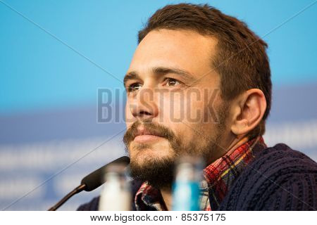 BERLIN, GERMANY - FEBRUARY 06: Actor  James Franco attends the 'Queen of the Desert' press conference during  65th Film Festival at Hyatt Hotel on February 6, 2015 in Berlin, Germany.
