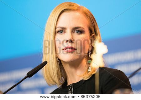 BERLIN, GERMANY - FEBRUARY 06: Nicole Kidman attends the 'Queen of the Desert' press conference during the 65th Berlinale Film Festival at Grand Hyatt Hotel on February 6, 2015 in Berlin, Germany.