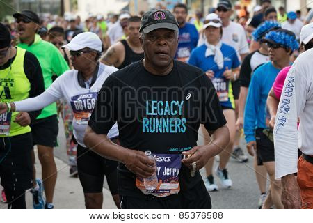 Legacy Runner Participating In The 30Th La Marathon Edition