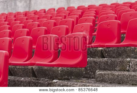 Red Seats On Stadium