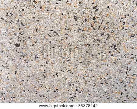Surfaced Of Hard Grey Granite Rock Wall With Black Spot Background