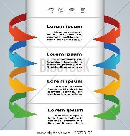 Tabs With Arrows For Business Concepts. Infographics, Presentations, Template.