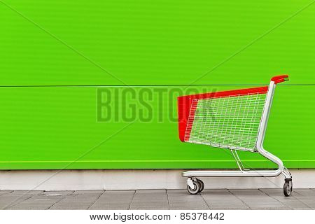 Empty Shopping Cart Trolley