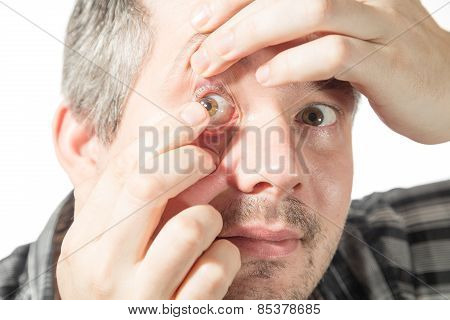 Putting On A Contact Lens