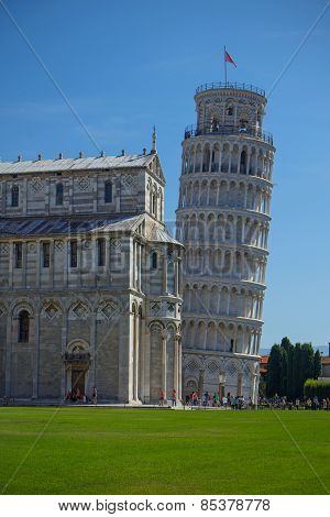 The Leaning Tower Of Pisa (tuscany, Italy)