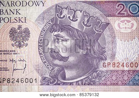Portrait Of Boleslaw Chrobry On The Polish Money
