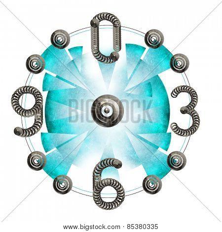 Abstract metal clock