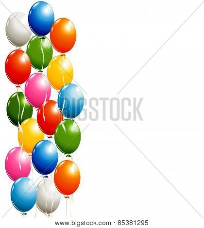 Flying Balloons Background