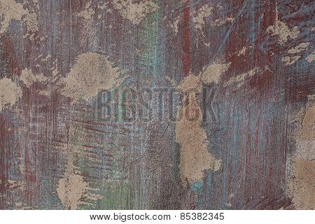Grunge Red And Blue Painted Wall