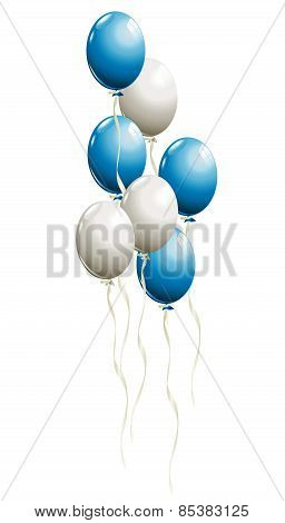 Bunch Of Balloons In Traditional Colors Of Bavaria