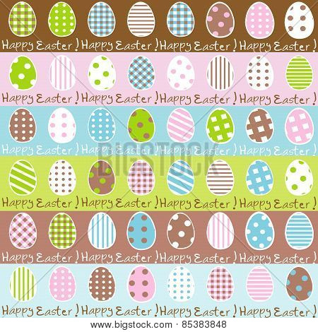 Cute Easter Wrapping Paper Seamless Pattern