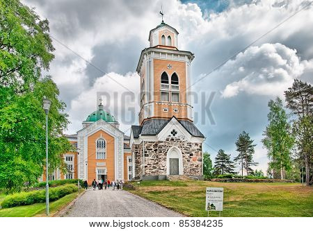 Kerimaki. Finland. Wooden church and belfry