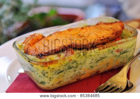 Fresh And Tasty Baked Fish