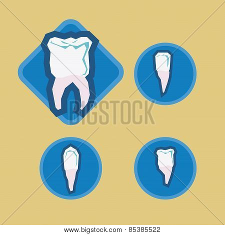 Dental design over beige background vector illustration