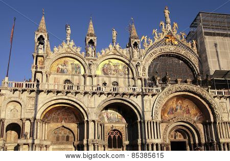 The Patriarchal Cathedral Basilica Of Saint Mark,  Venice, Italy