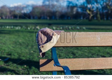Abandoned Hat On Bench