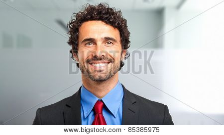 Confident male manager portrait