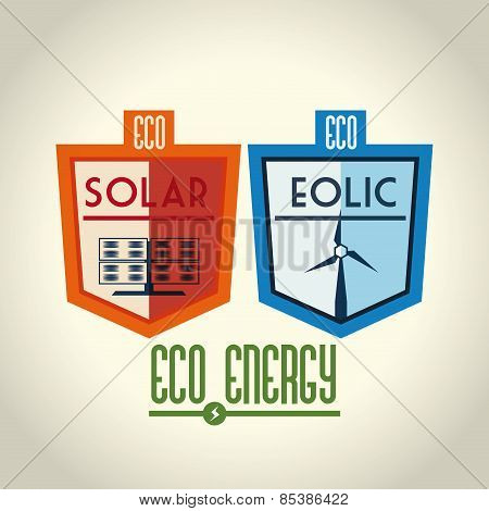 Energy design over beige background vector illustration