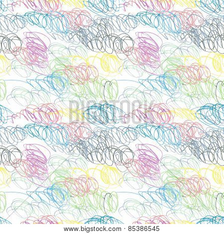 Doodle seamless pencil scribble pattern