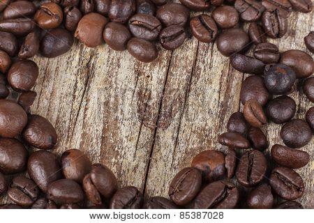 Coffee Heart On Wood