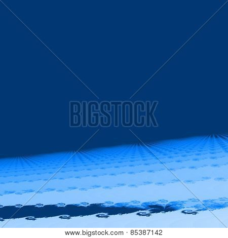 Blue white abstract fractal background