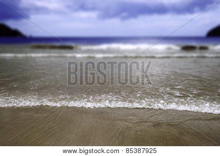 Maracas Beach in Trinidad and Tobago selective focus
