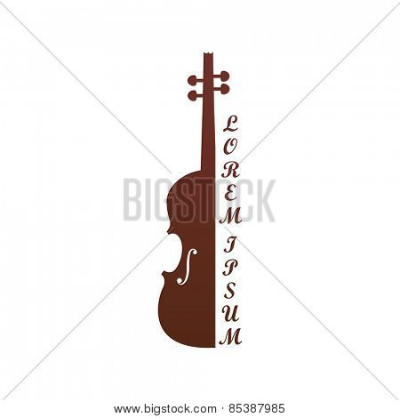 Vector illustration of a symbolic image of violin