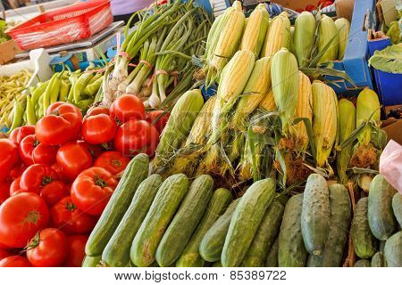 Fresh organic corn