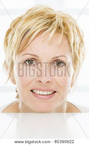 Face of nice, forty years old woman
