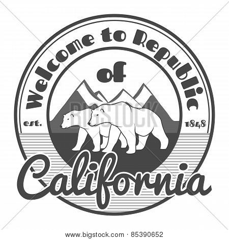 Vintage California Republic bear
