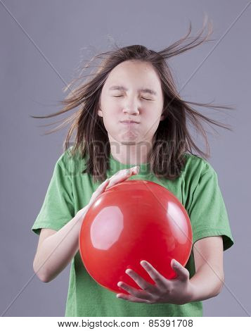 Girl And Balloon Blast.
