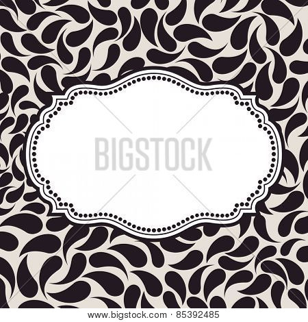 Vector elegant background pattern. Floral frame elements, ornament background seamless
