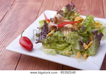 Close Up Of A Salad.