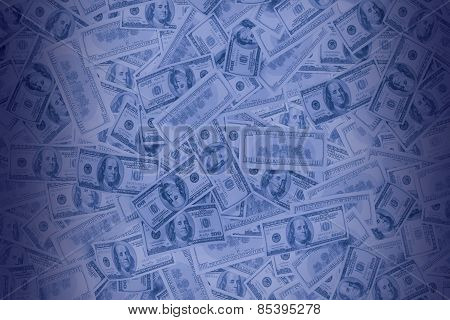 background from US dollars