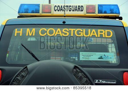 Coastguard vehicles at Bridlington East Yorkshire