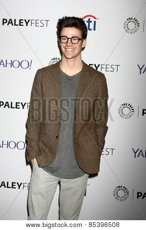 LOS ANGELES - MAR 14:  Grant Gustin at the PaleyFEST LA 2015 -