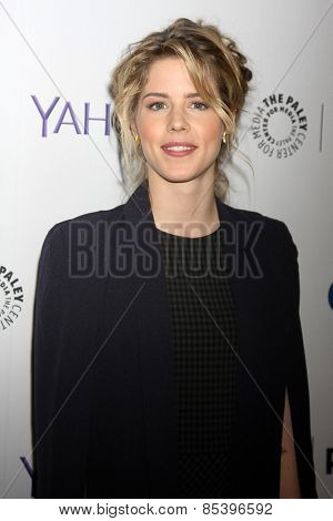 LOS ANGELES - MAR 14:  Emily Bett Rickards at the PaleyFEST LA 2015 -