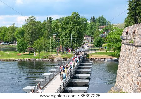 Savonlinna. Finland. Floating bridge