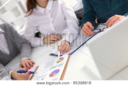Business people sitting and discussing  in office