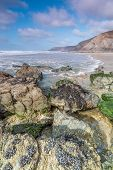 image of inlet  - beautiful coastline in cornwall - JPG