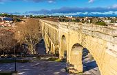 foto of aqueduct  - Saint Clement Aqueduct in Montpellier  - JPG