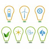 picture of wind energy  - Set of logos presenting eco - JPG