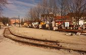 picture of reconstruction  - Reconstruction old tram track in Pilsen town centre - JPG