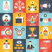 picture of human resource management  - Set of Human Resources Management icons  - JPG
