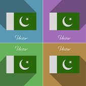 stock photo of pakistani flag  - Flags of Pakistan - JPG