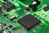 foto of processor  - Electronic circuit board with processor - JPG