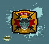 image of paintball  - Paintball team logo and emblem - JPG