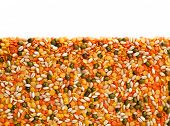 stock photo of legume  - Close up Mix Legumes isolated on white background - JPG