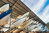 picture of tarp  - Power boats sheltered parking facility marina in Trinidad - JPG