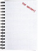 foto of top-secret  - Notepad with a Top Secret mark isolated on white background - JPG